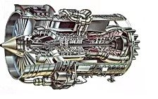 Cut-Away View of a Gas Turbine