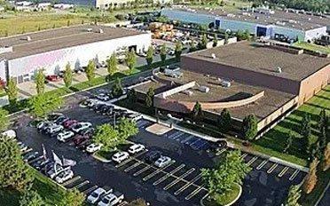 Aerial View of Acme Manufacturing Headquarters in Auburn Hills, Michigan